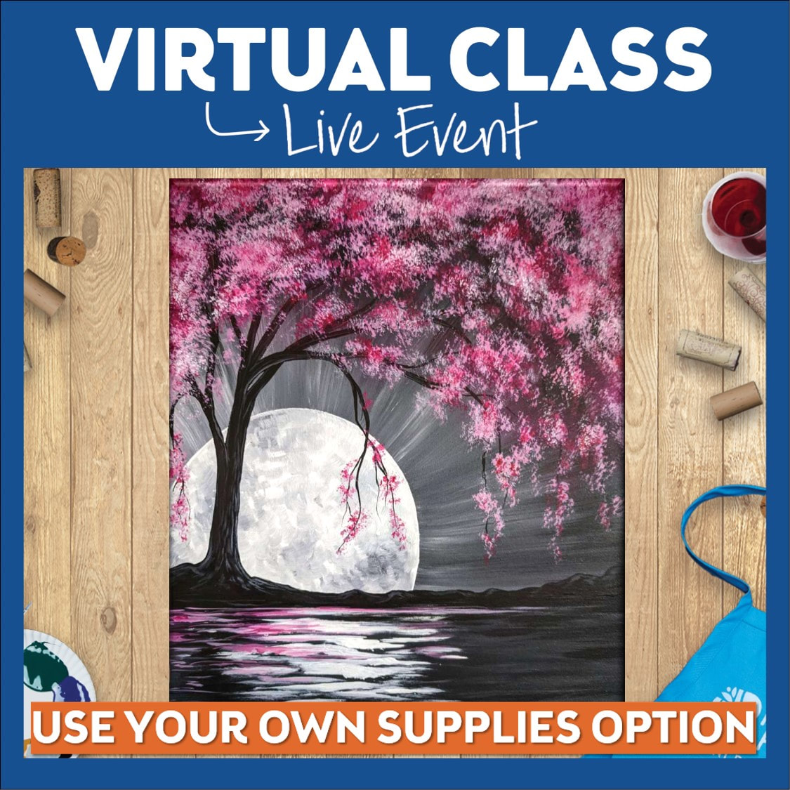 10PM Night Owls!  Virtual Class! Use Your Own Supplies