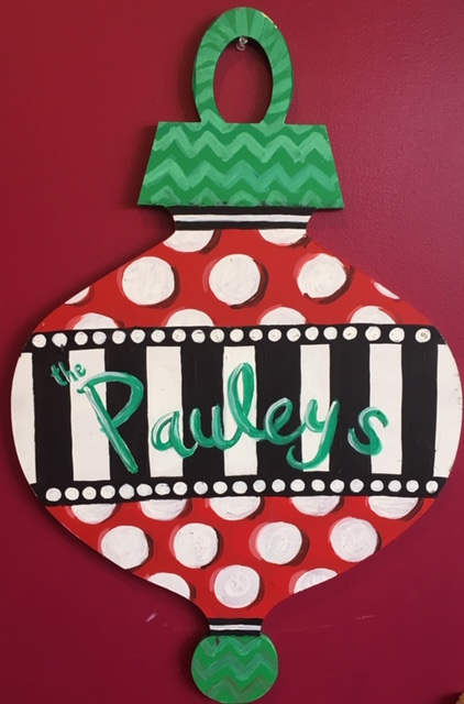 Oval Ornament Door Hanger