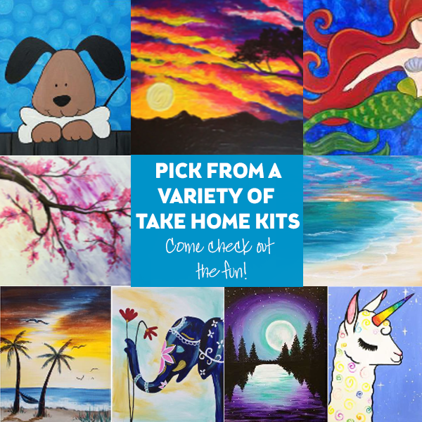 Take Home Kit Collage of Paintings