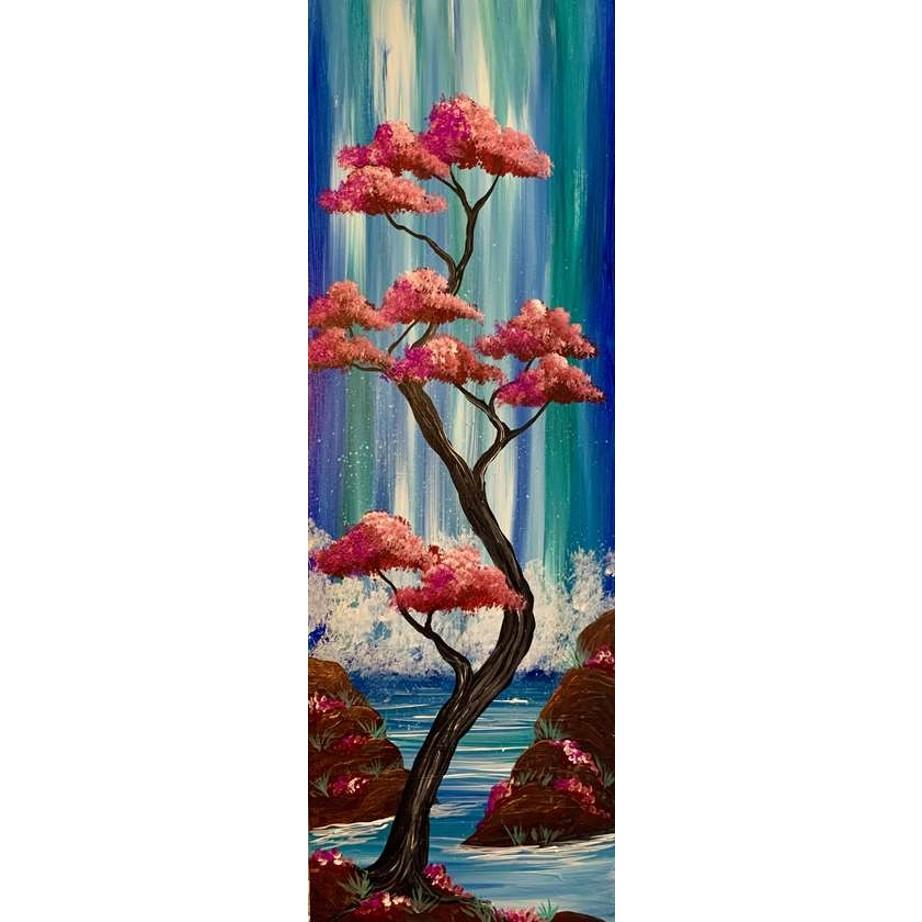 Cascading Falls on Canvas