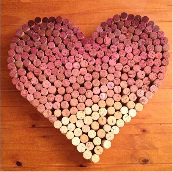 DIY Wine Cork Hearts