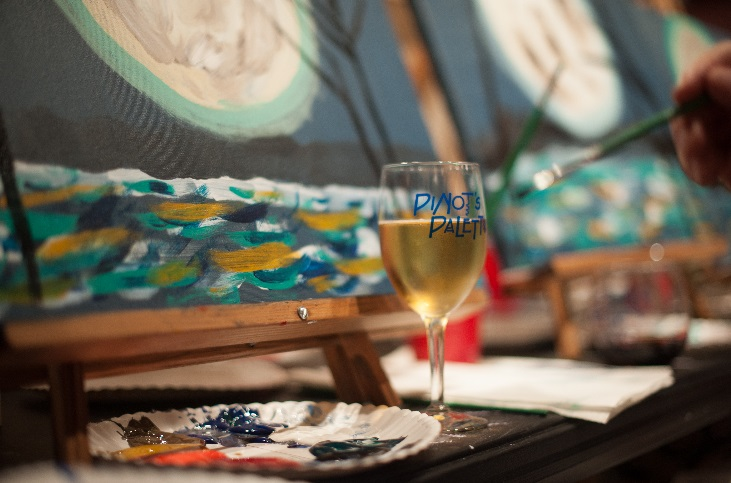 creating art at a wine party can relieve stress pinot 39 s