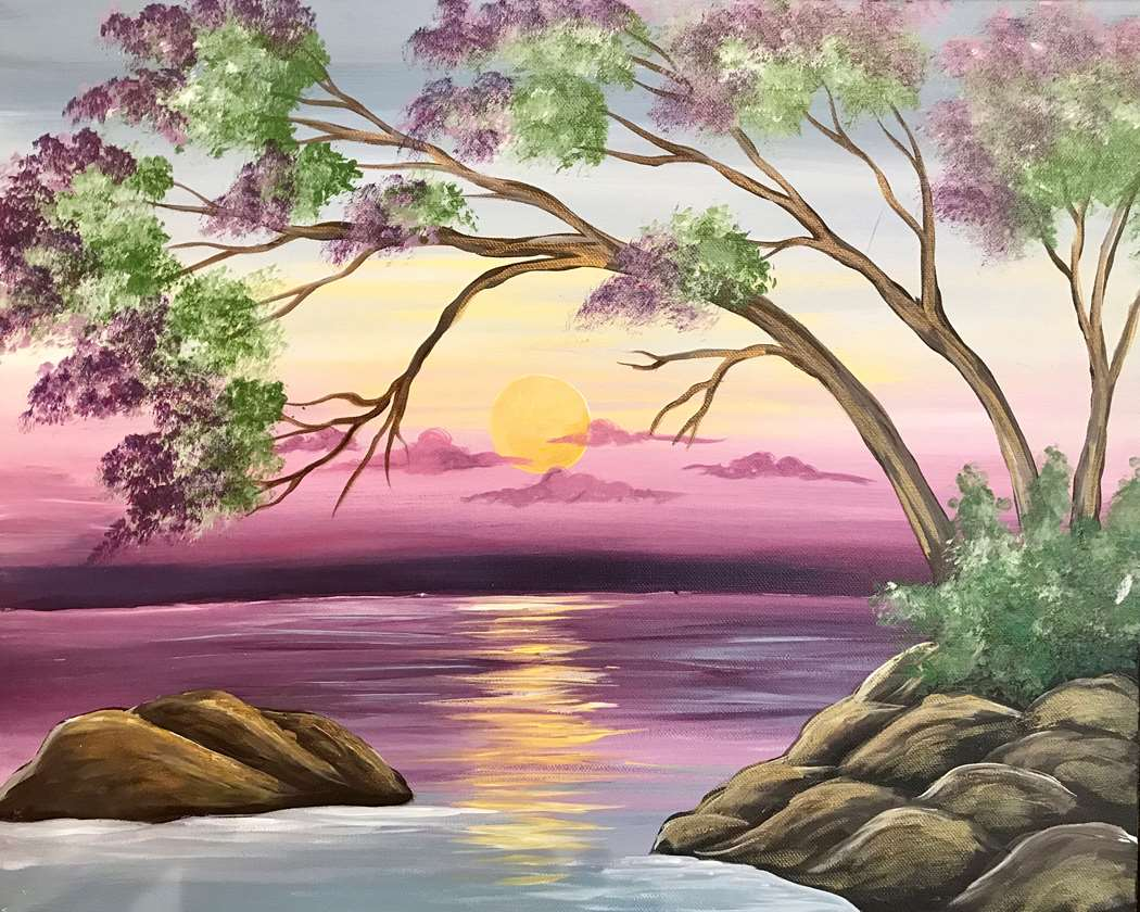 destress with a twist with painting class in Plano