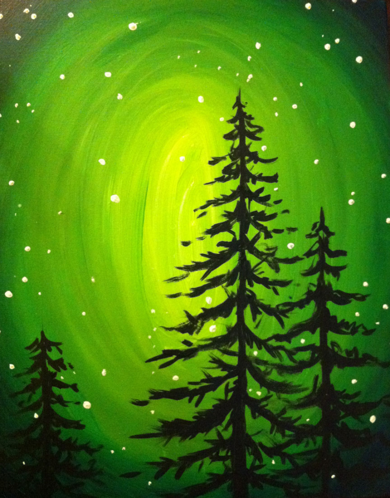 glow in the dark painting party