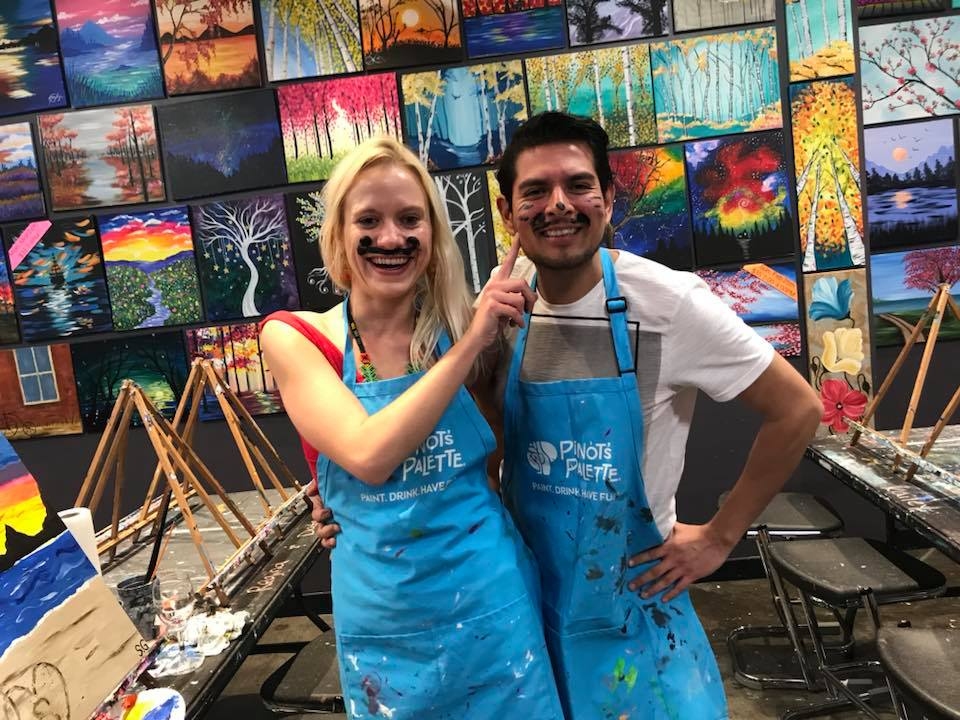 put a twist in your first date with painting in Rowlette