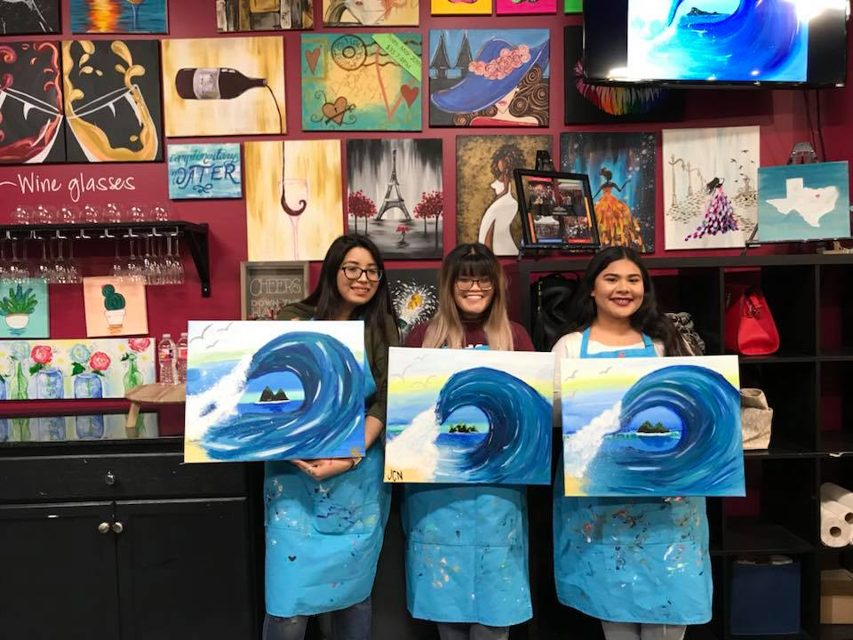paint night Garland girls night out