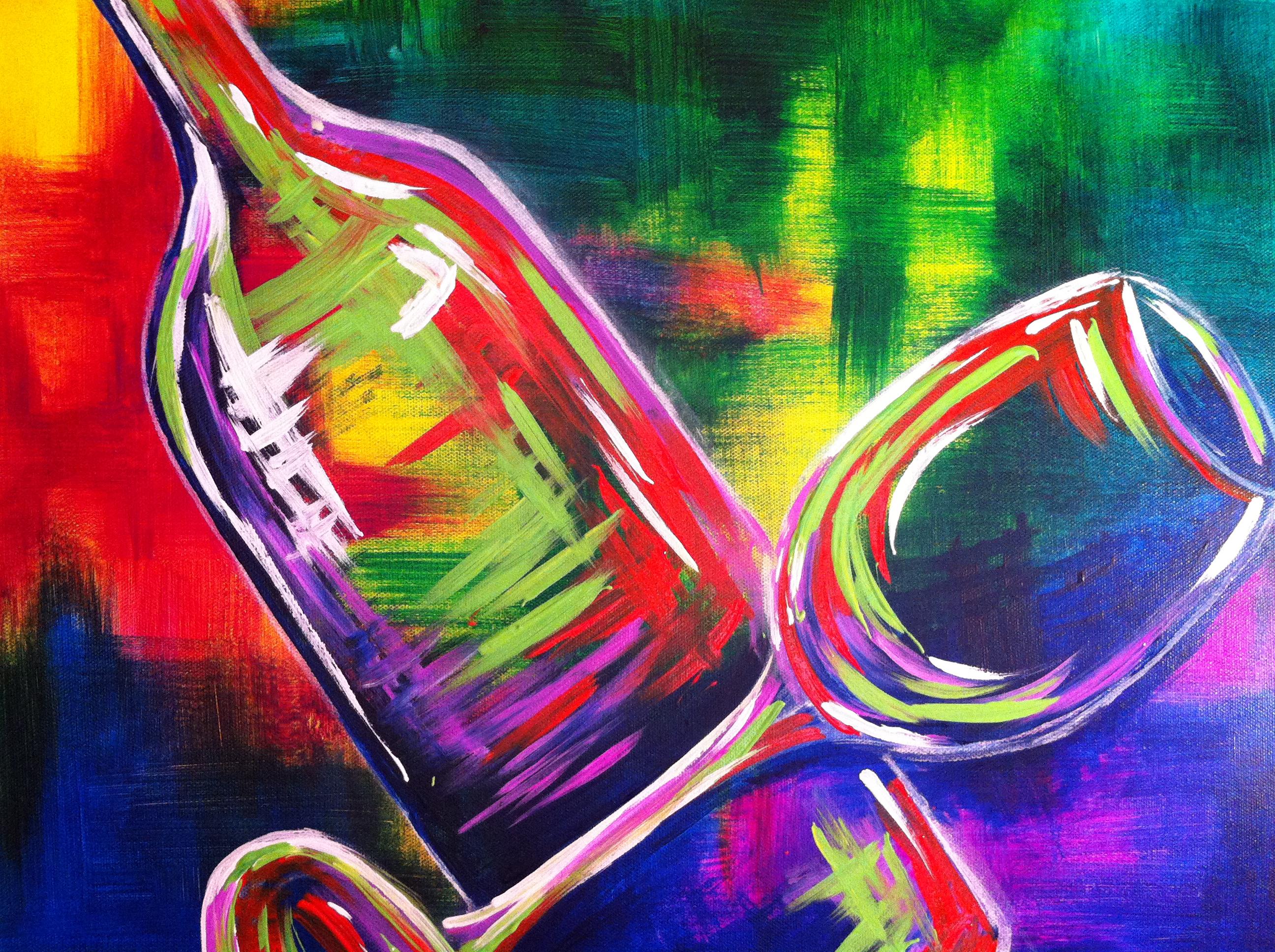 BYOB wine painting class