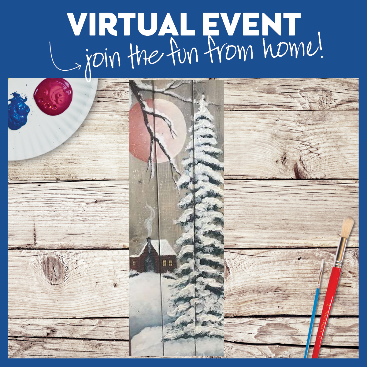 "LIVE INTERACTIVE VIRTUAL CLASS - 10""x30"" wood pallet"