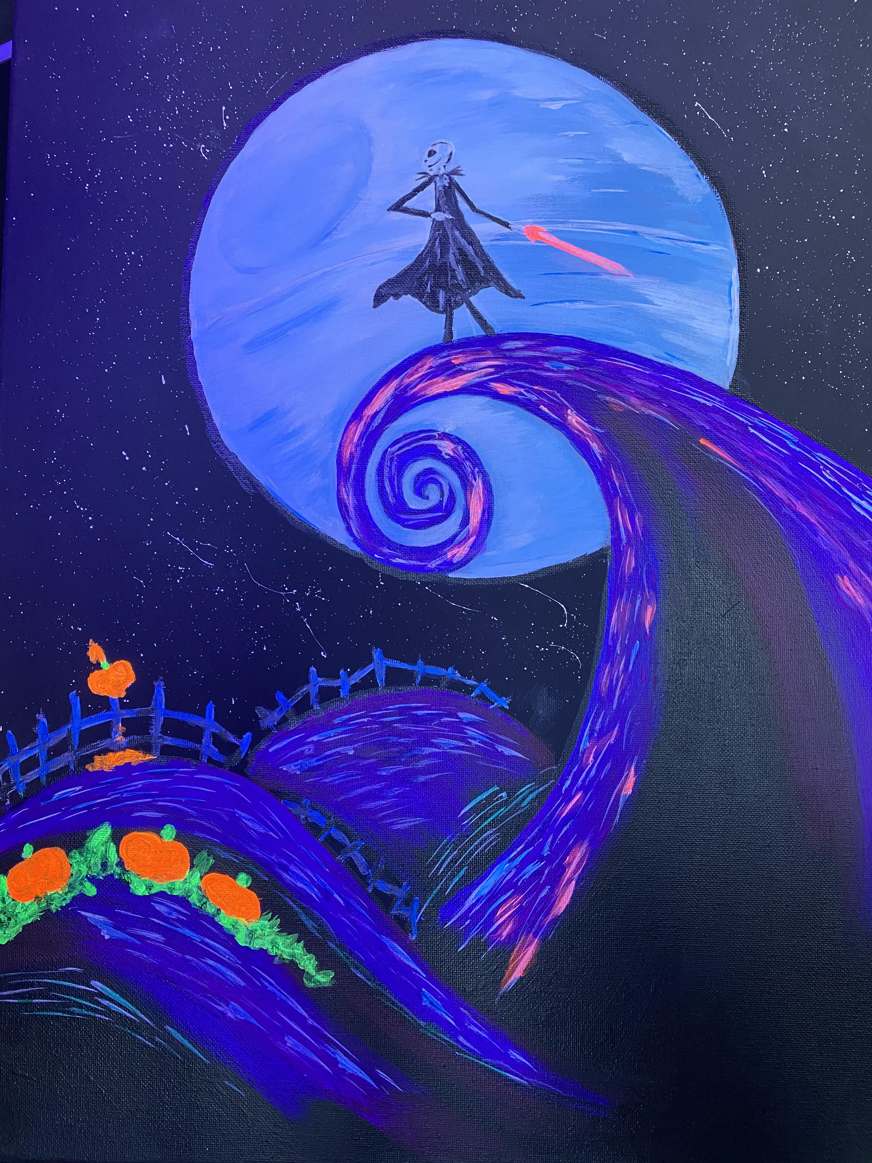 HB Artist Original! Nightmare Before The Dark (Side) Blacklight