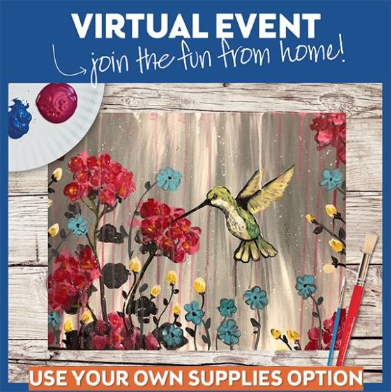 LIVE VIRTUAL CLASS-HUMMINGBIRD HEARTBEAT-PROVIDE YOUR OWN SUPPLIES