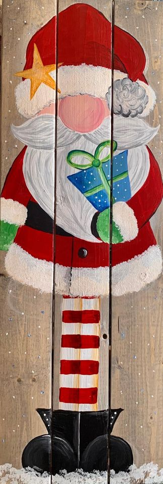 Charming St. Nick on Wood