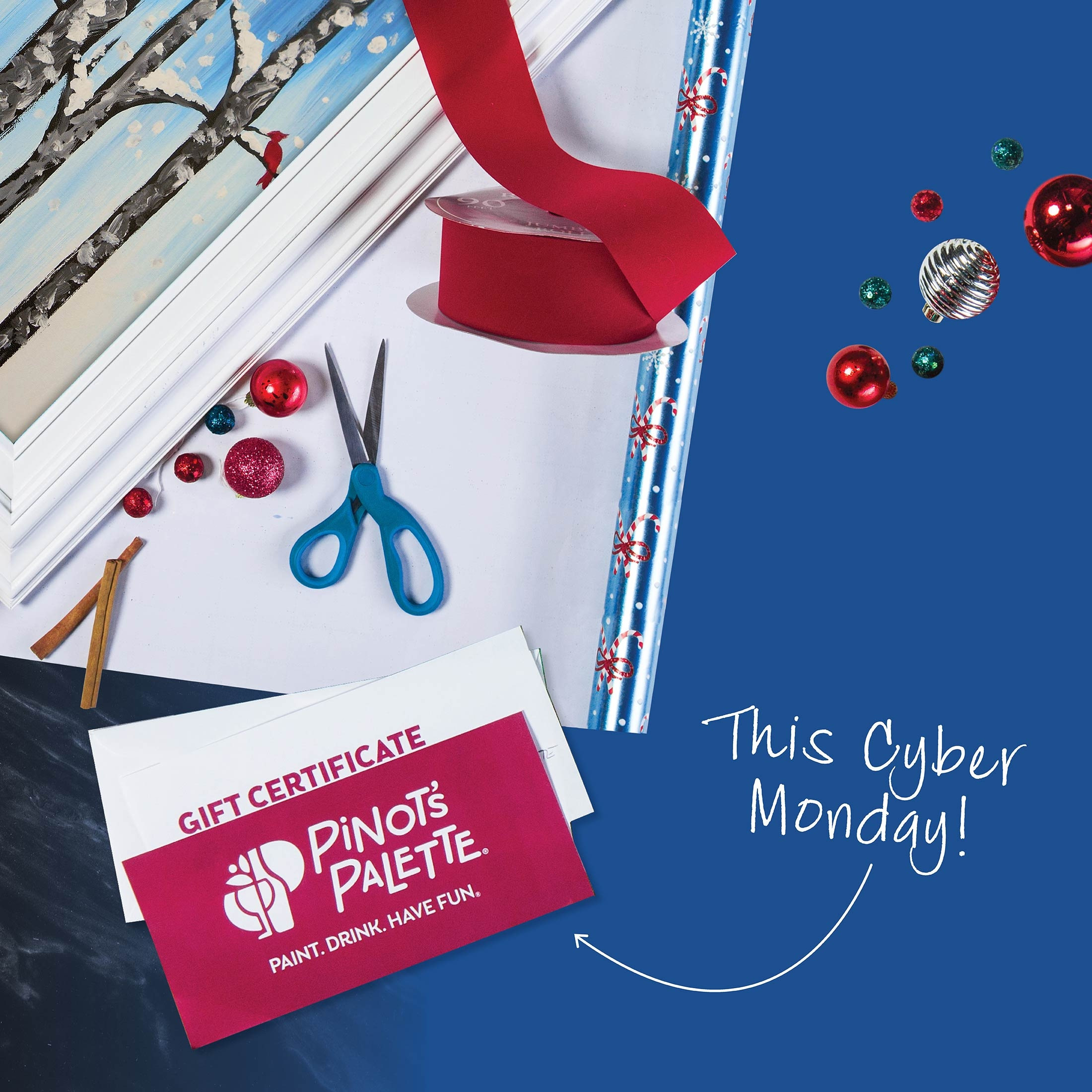 Cyber Monday At Pinot's Palette