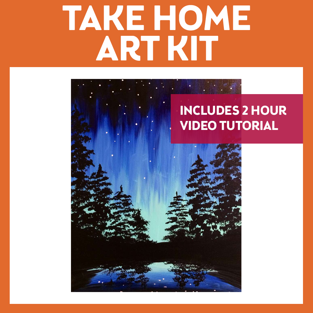 AURORA - TAKE HOME ART KIT WITH VIDEO TUTORIAL