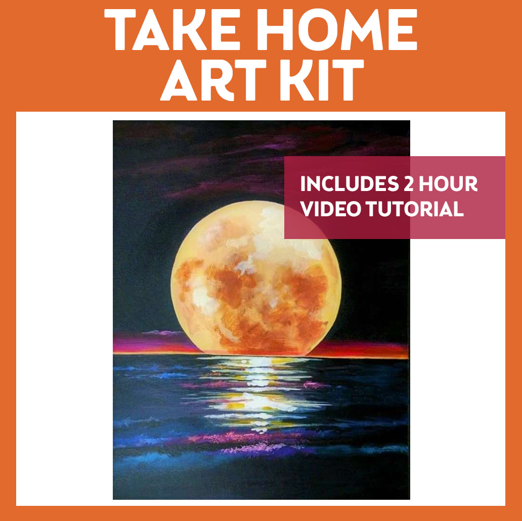 MOONSHINE - TAKE HOME ART KIT WITH VIDEO TUTORIAL