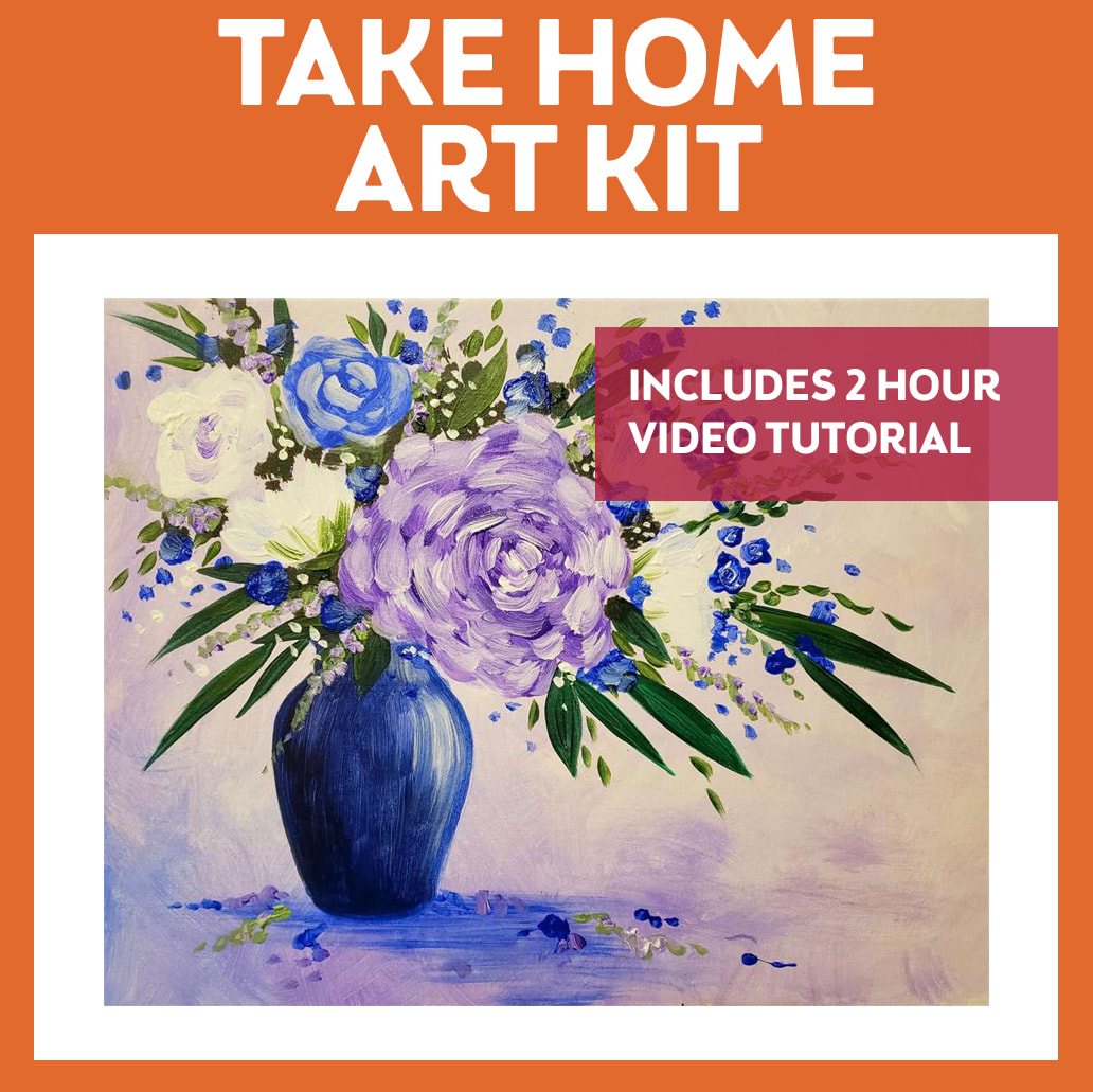VIBRANT VIOLETS - TAKE HOME ART KIT WITH VIDEO TUTORIAL