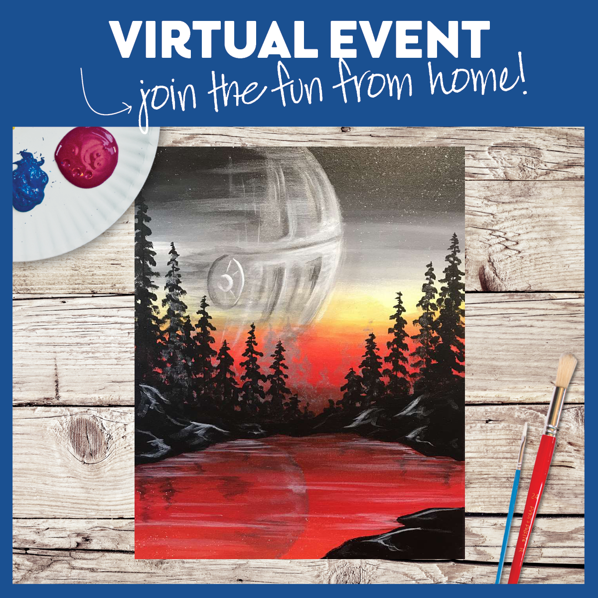 Virtual Event ~ Pick up Painting kit in Studio by 3 pm 5/4