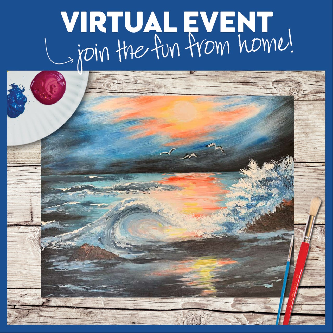 Virtual Painting Class with Kit!