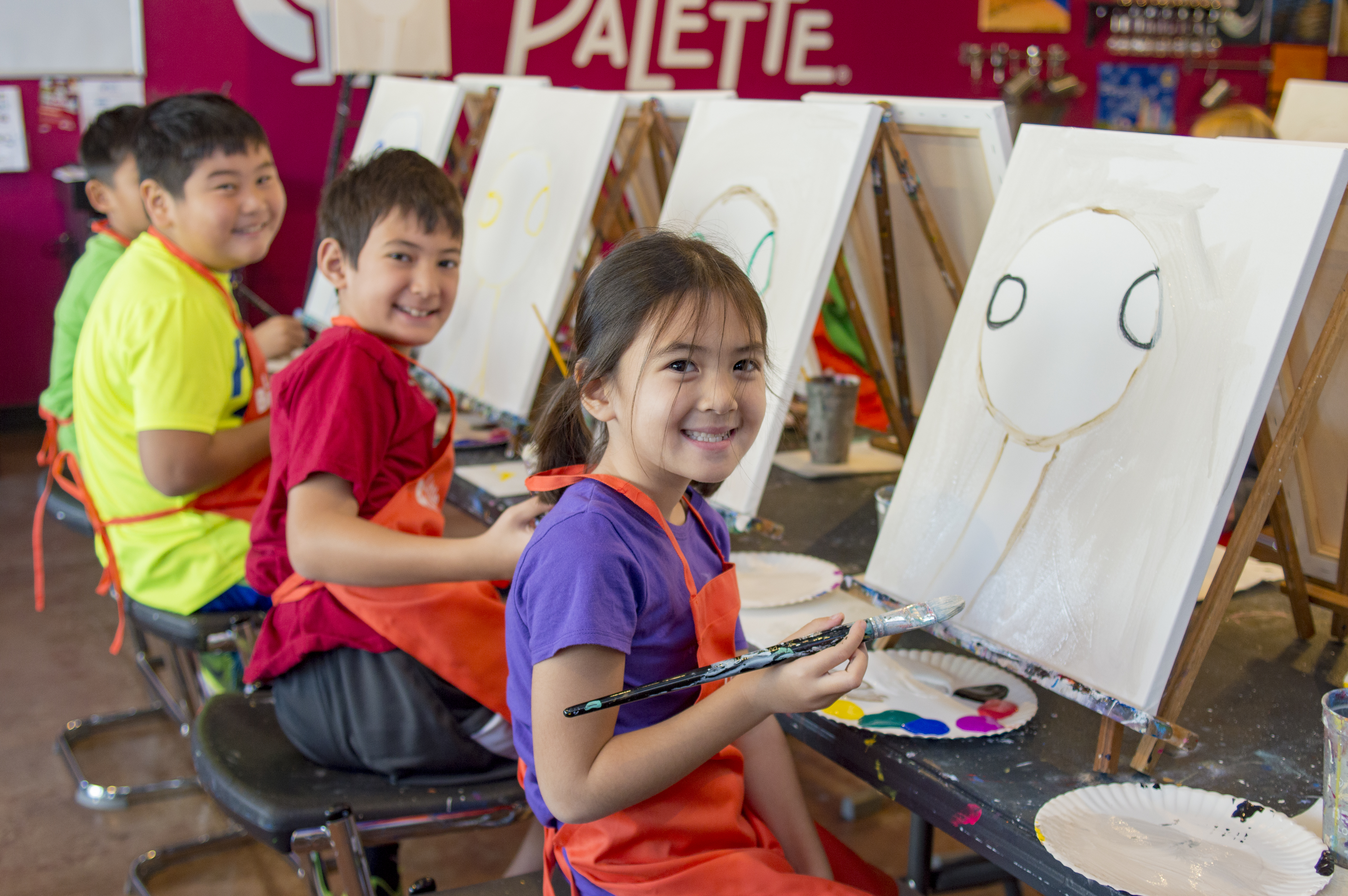 In Addition To Our Fun Adult Painting Events We Celebrate Kids And Families Have Little Brushes Family Paintings Birthday Parties Summer Winter