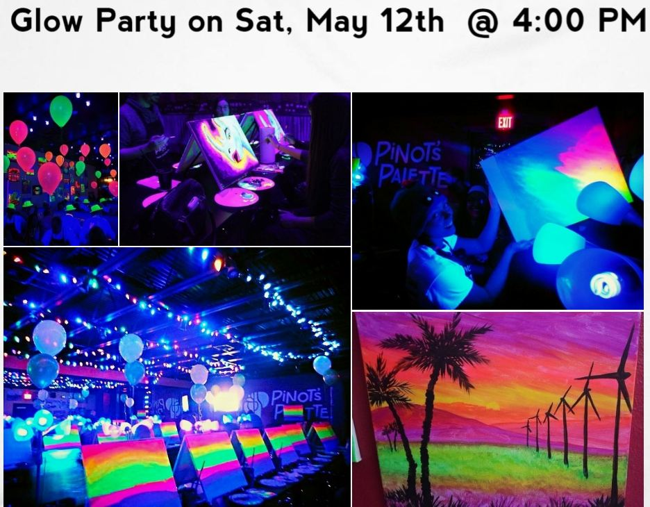 Glow Party with Mom