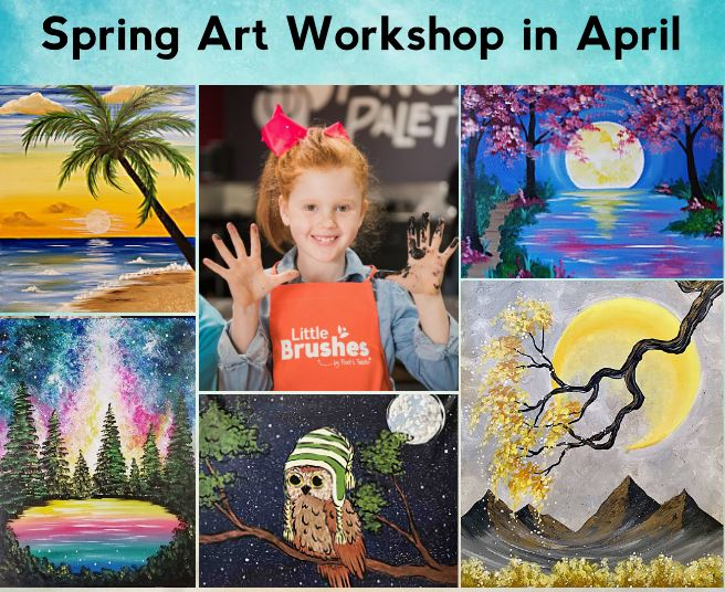 Spring Kids ART Camps At Our Studio!