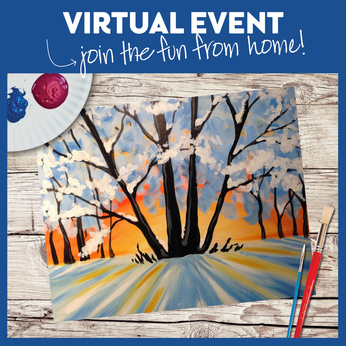 LIVE INTERACTIVE VIRTUAL CLASS. - PAINTING KIT INCLUDED