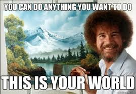Happy Little Thoughts; A Happy Little Blog Post Dedicated Bob Ross