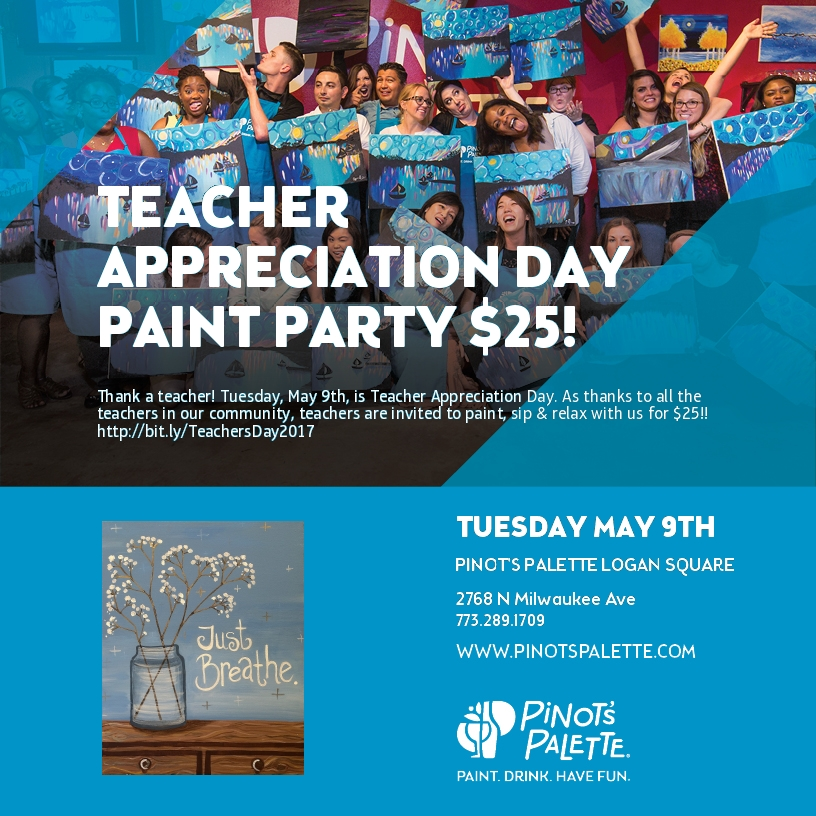 Teacher Appreciation Day is May 9th