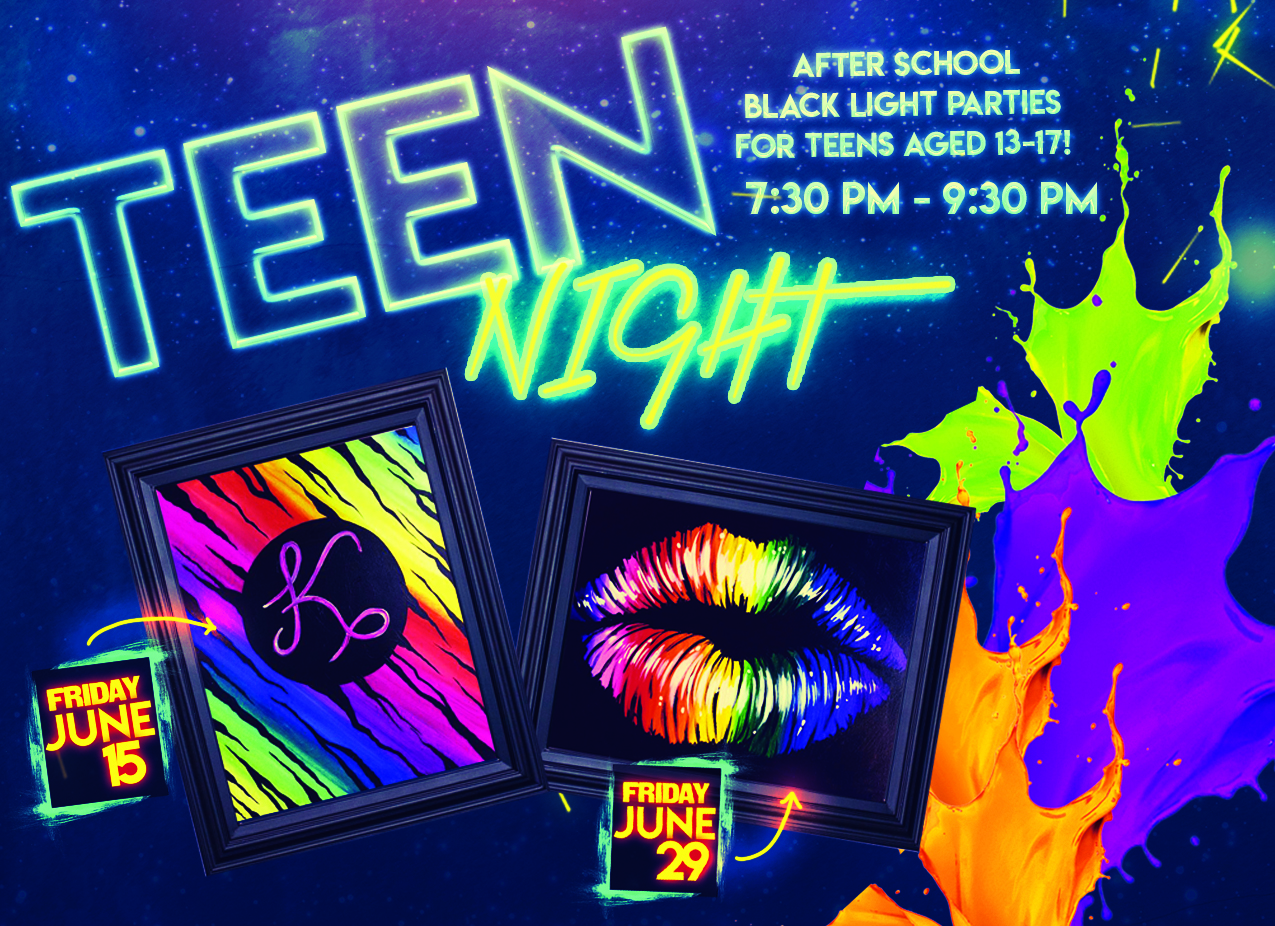 Blacklight Teen Night GLOW PARTY!