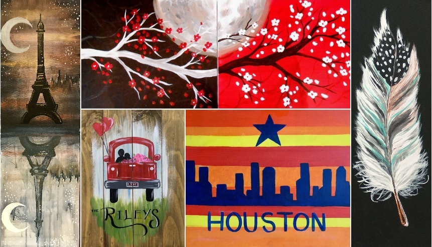 Wine and painting classes in Houston