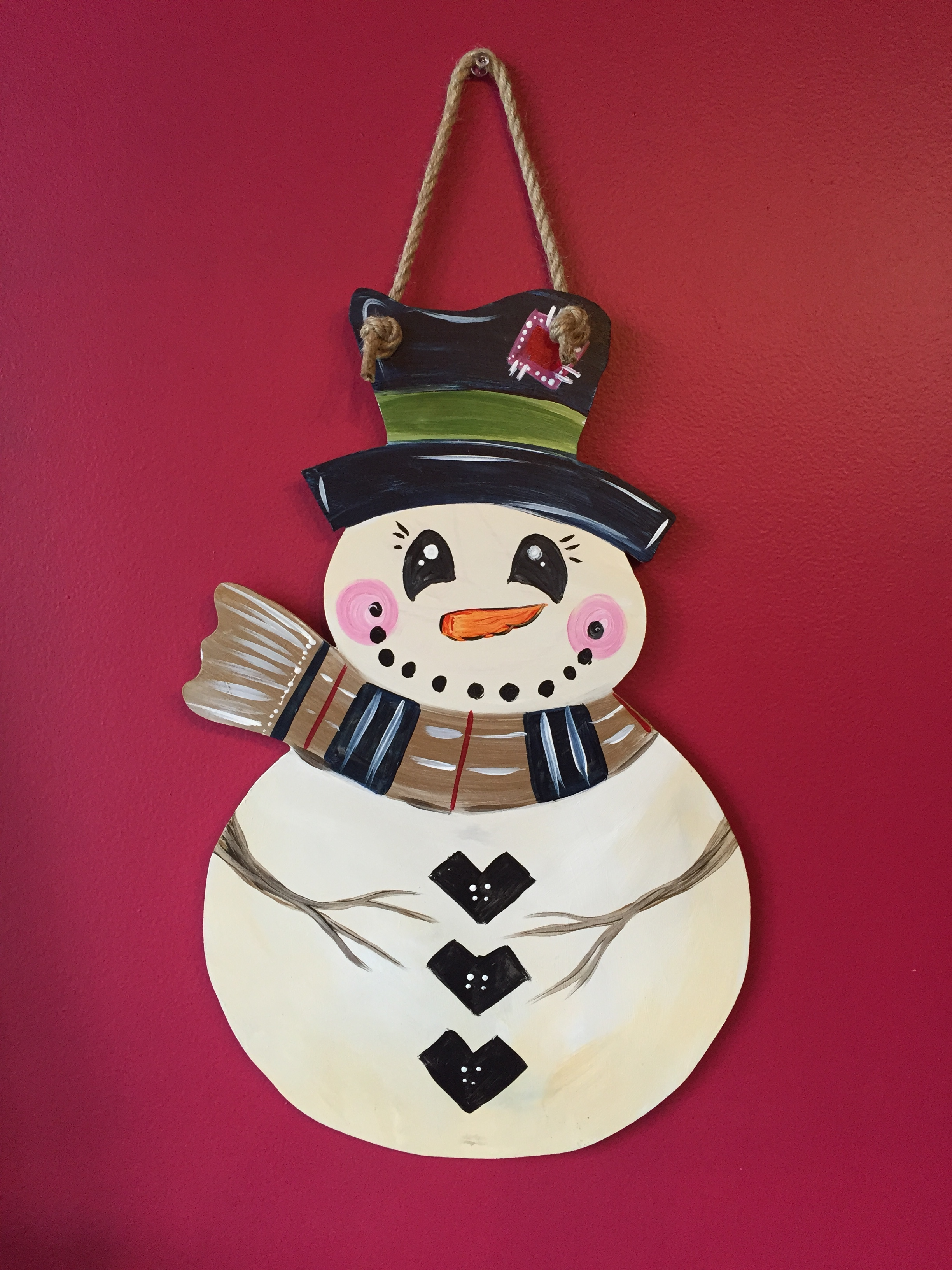 Custom Door Hanger - Snowman