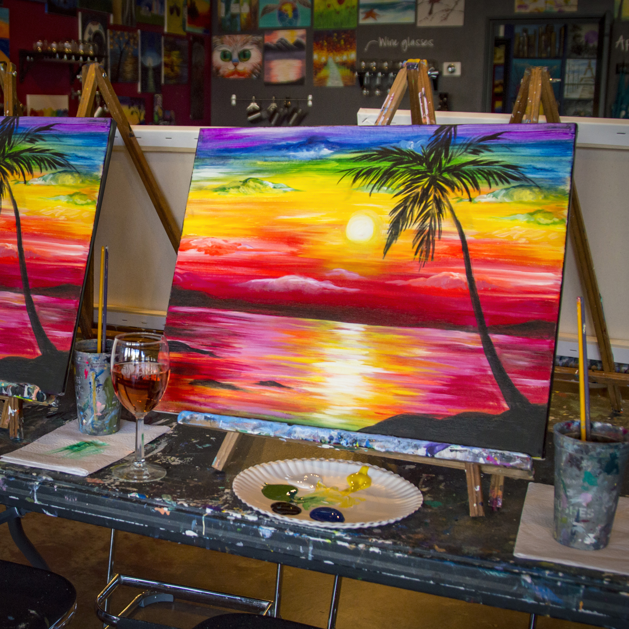 Explore our blog pinot 39 s palette montrose for Sip and paint houston