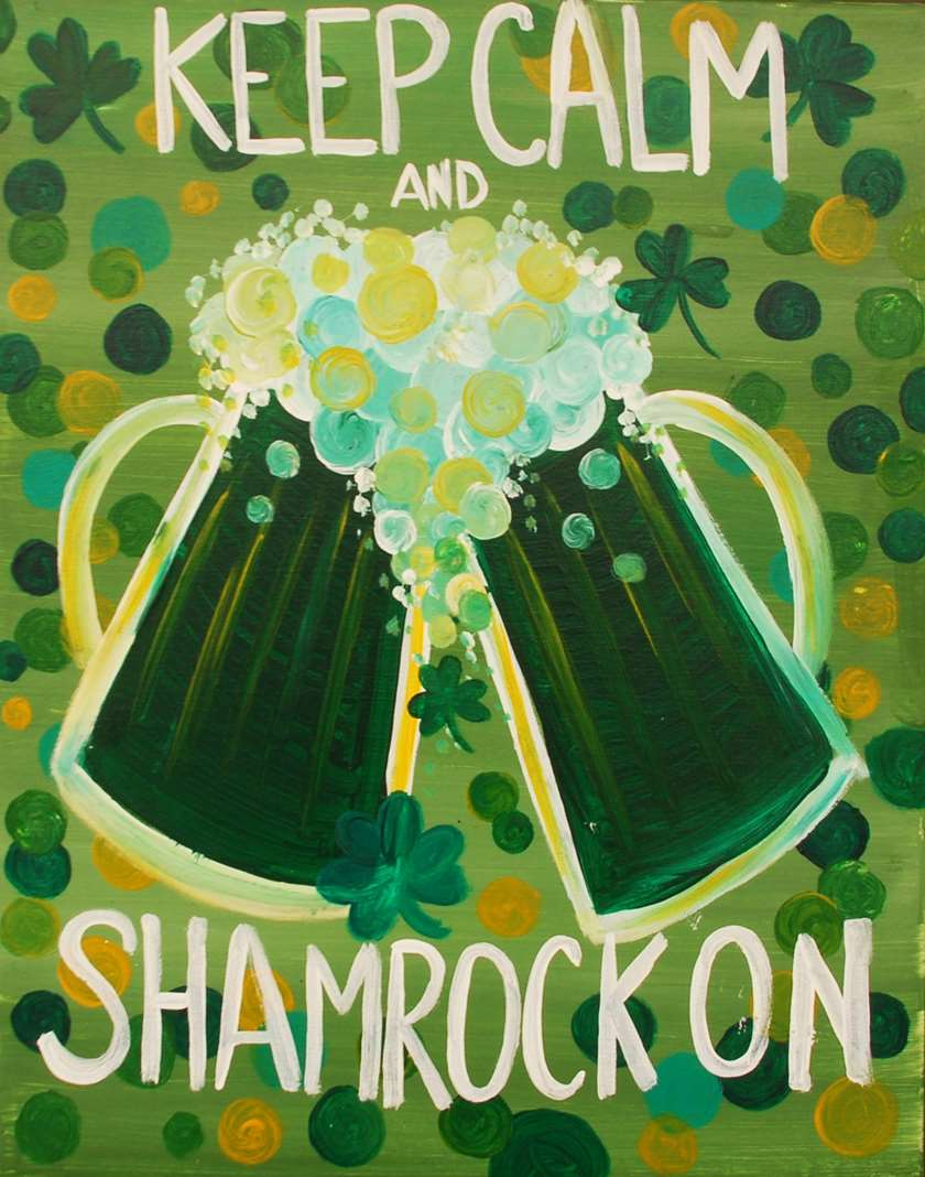 celebrate St Patricks Day with canvas and grapes in Morristown