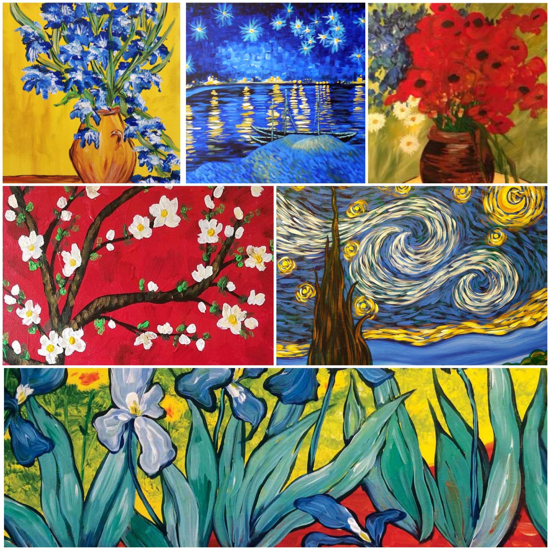 Van Gogh's Pinot's Palette Paintings