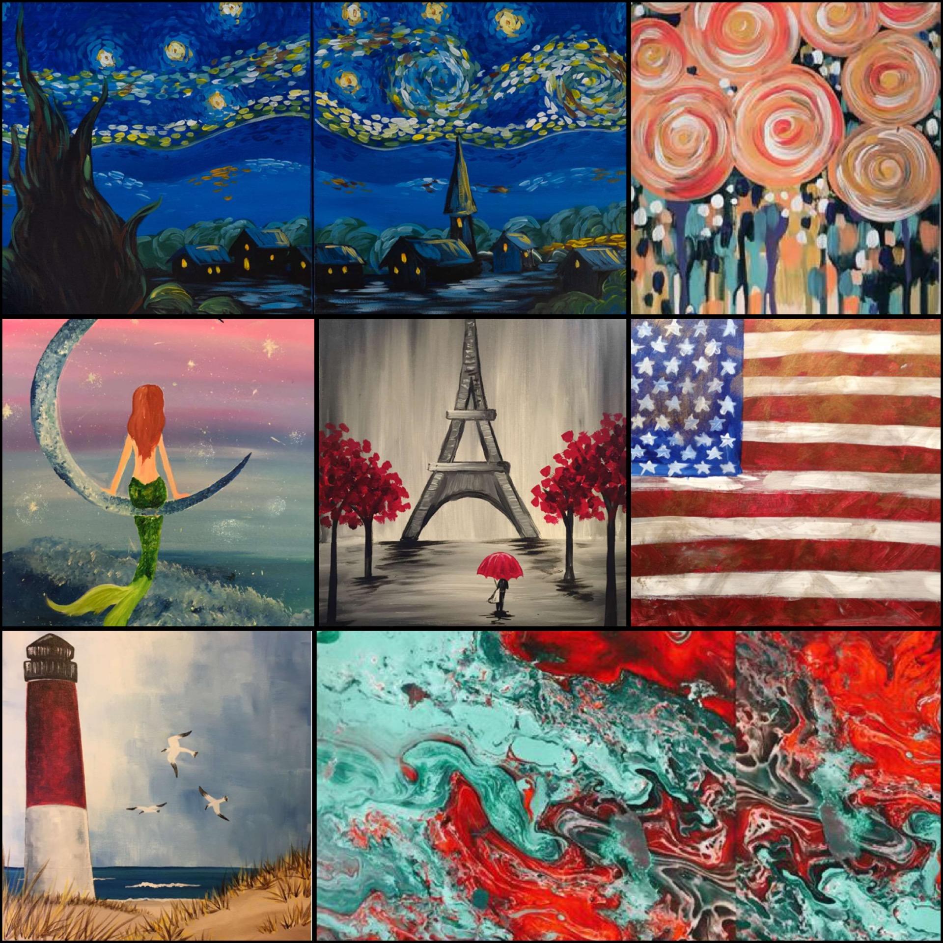 Beautiful Paintings, Delicious Drinks, & Fun Classes!