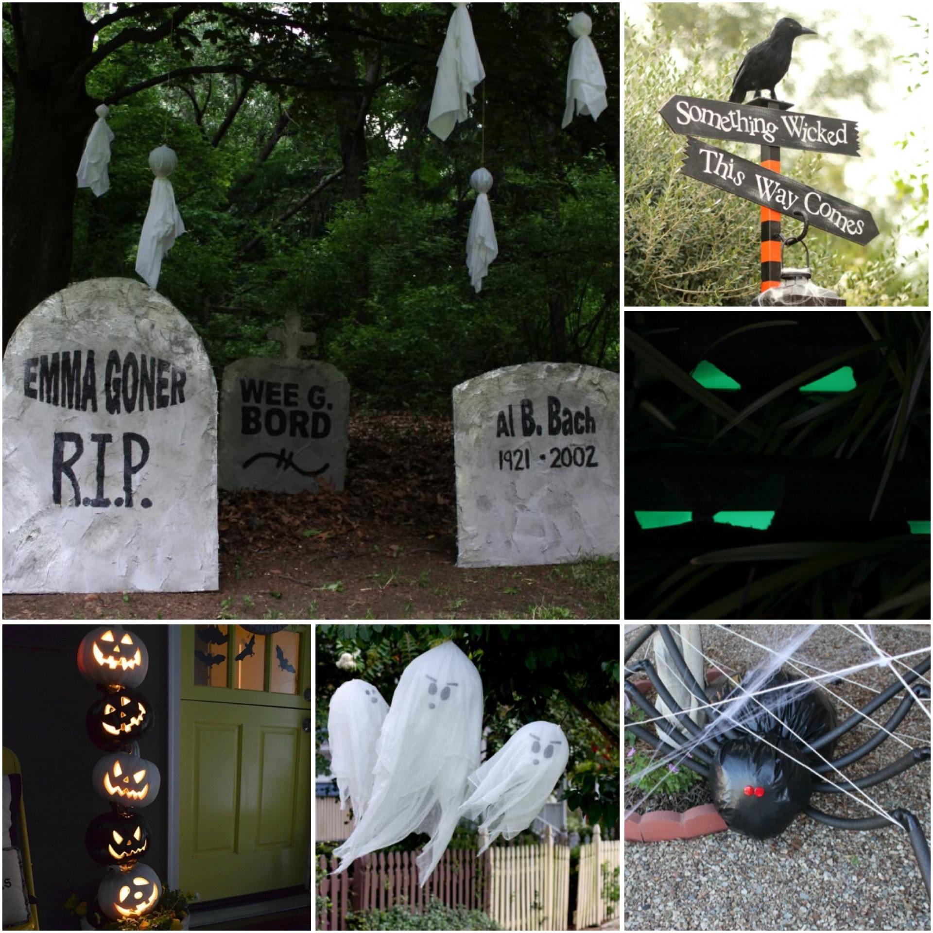 DIY Outdoor Halloween Decorations!