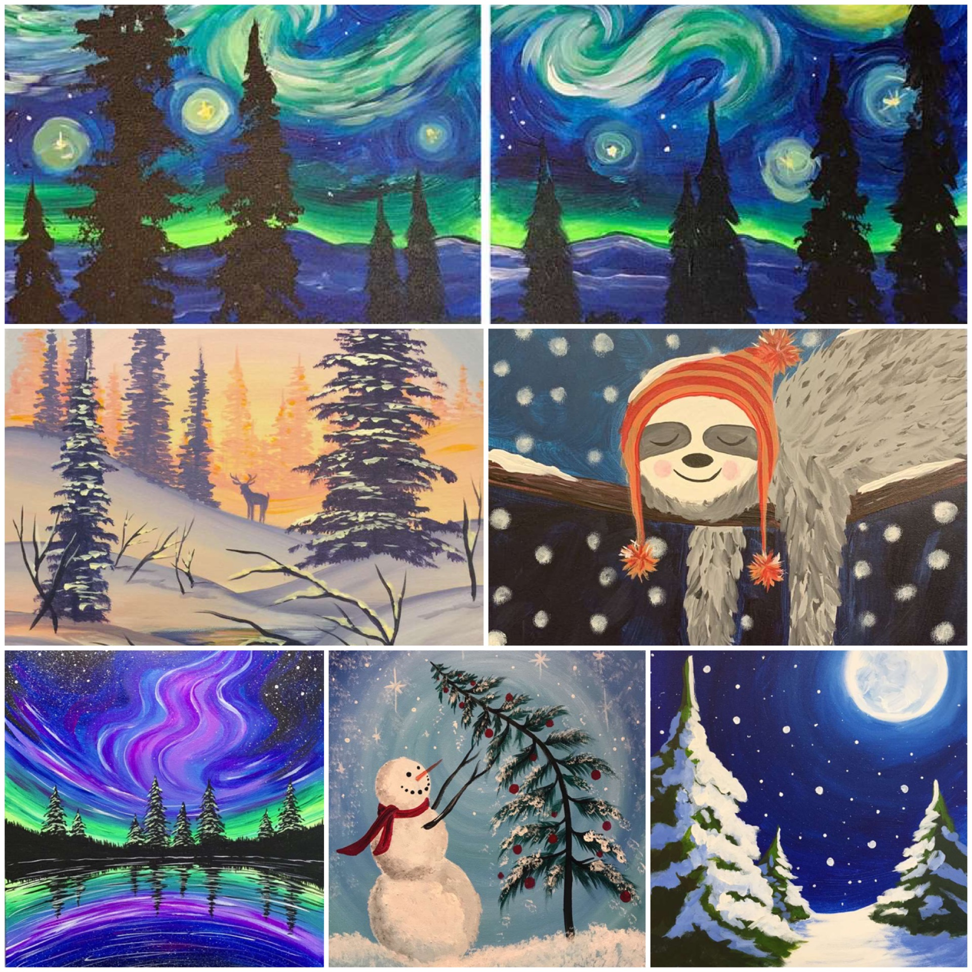 Winter-Themed Artwork, Perfect For The Season!