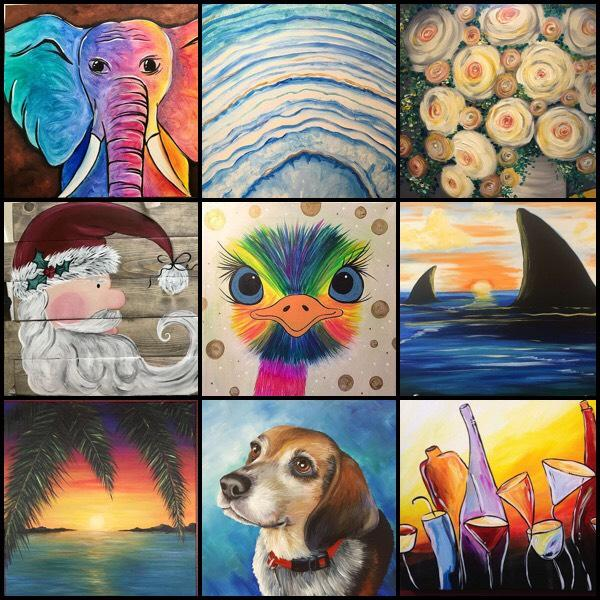 Are You Interested In A Painting And Wine Class As A Fun Way
