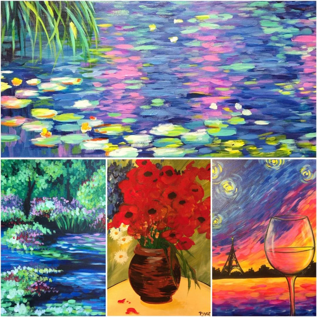 thingstodonaperville thingstodochicago paintingandwinechicago vangoghpaintingsmonetpaintingsartworknaperville artclassesnaperville