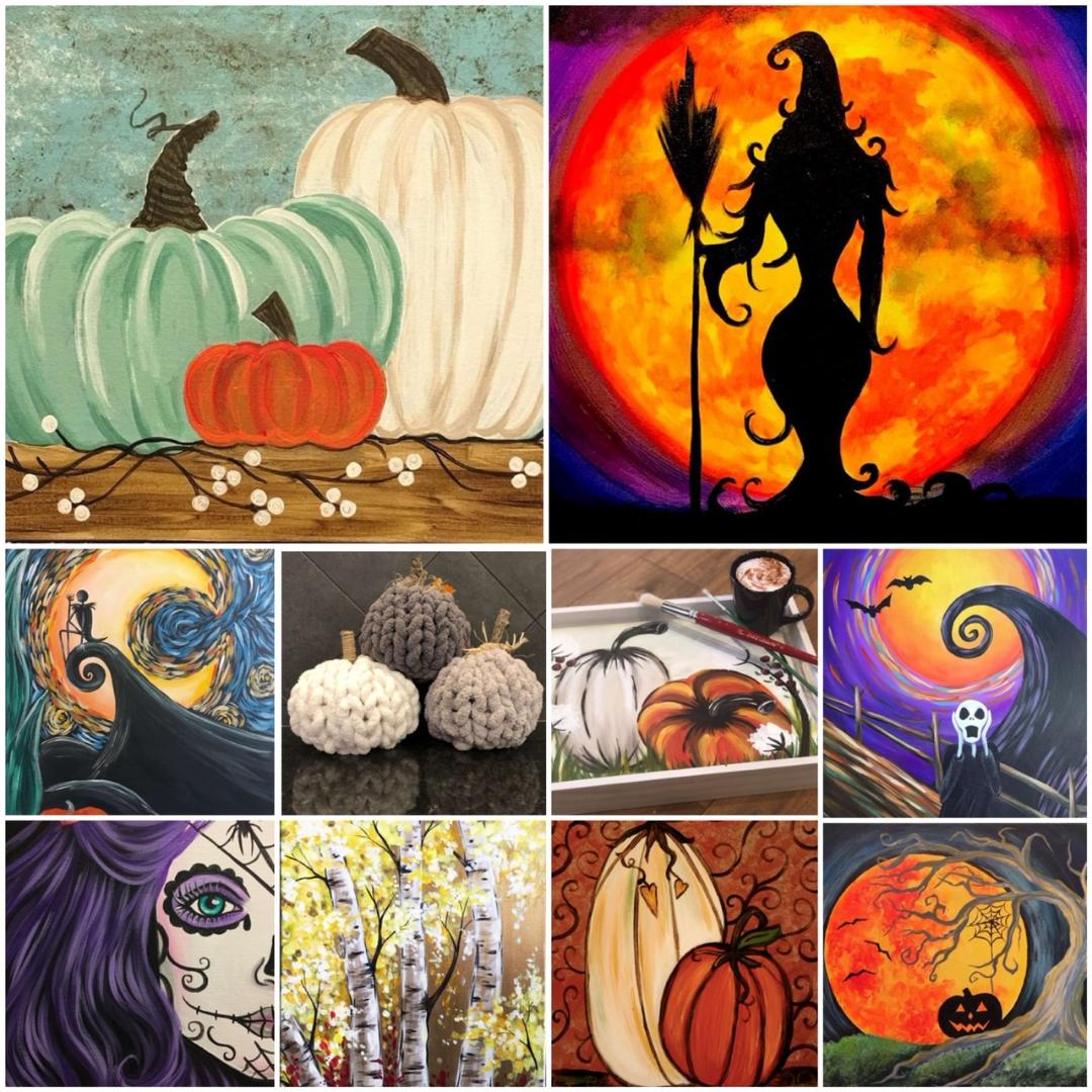 Decorate Your Home For Fall and Halloween With Some Handmade Artwork!