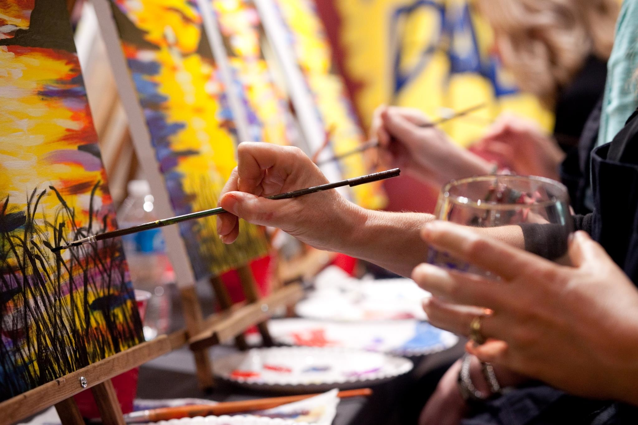 Painting and Wine in Naperville Paint and Sip