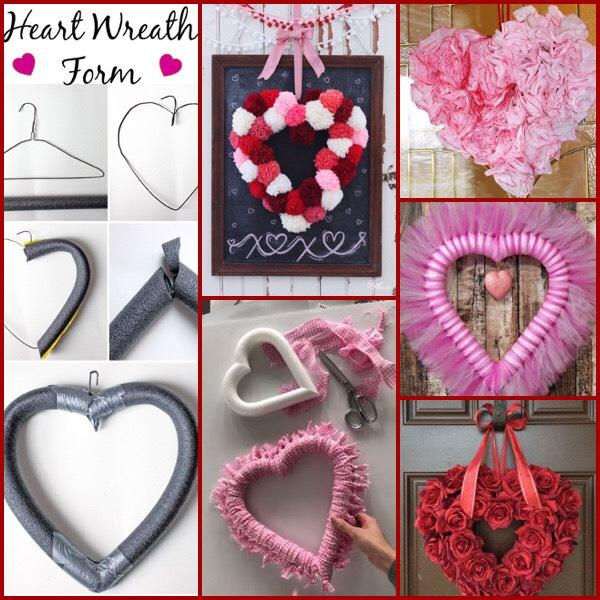 DIY Heart Form To Make The Valentine's Wreath Of Your Choice!