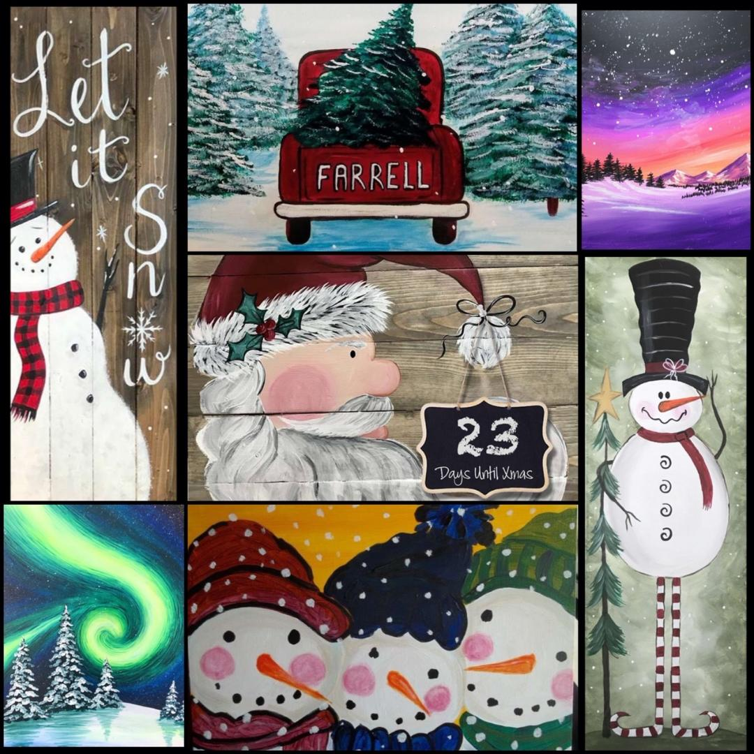 paintingandwineclassesholidayschristmasnaperville napervillechristmasthingstodo napervillechristmasdecorations thingstodochristmasnaperville