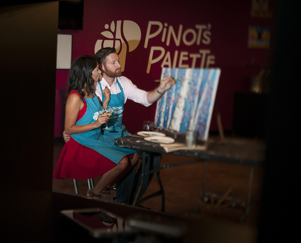pinot's palette paint and sip naperville night out fun