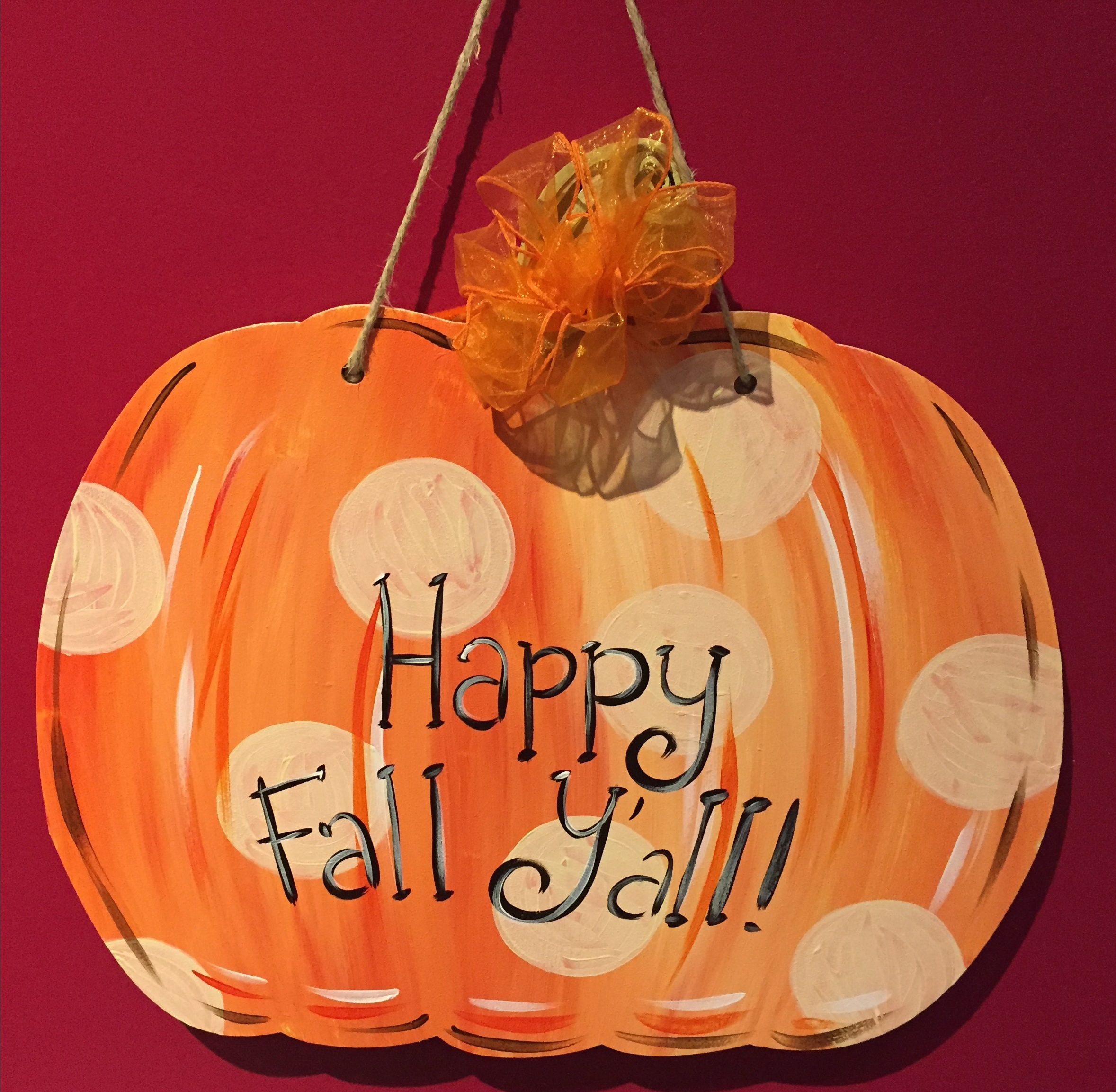 Custom Door Hanger - Pumpkin