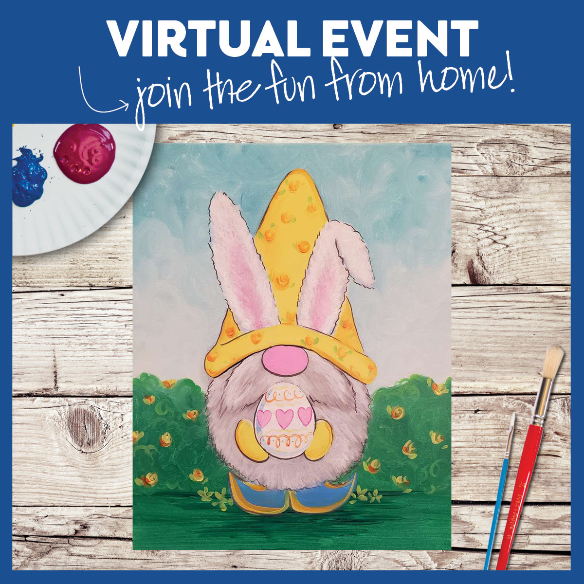 ALL AGES! LIVE INTERACTIVE VIRTUAL CLASS - PAINTING KIT INCLUDED