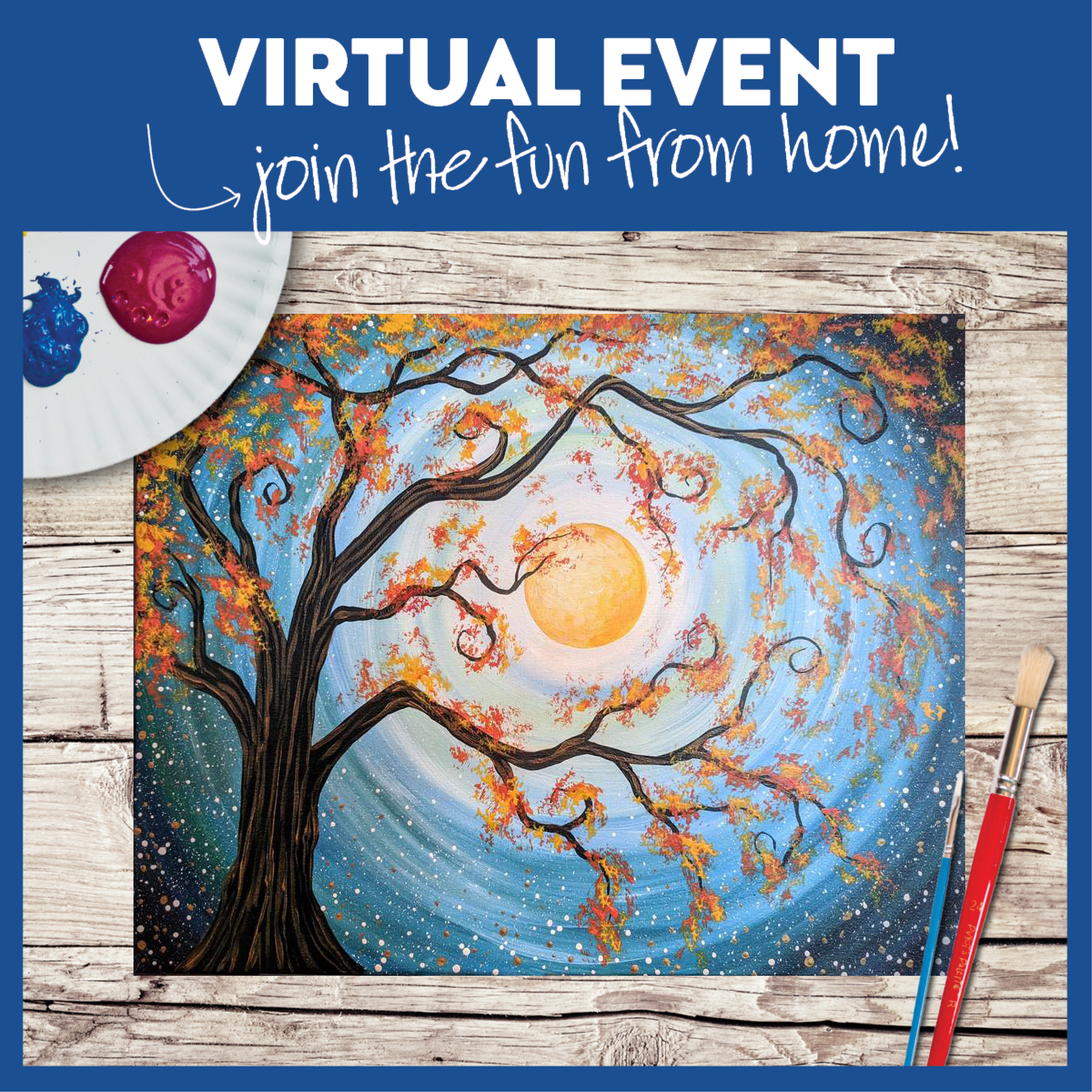 LIVE INTERACTIVE VIRTUAL CLASS - PAINTING KIT INCLUDED