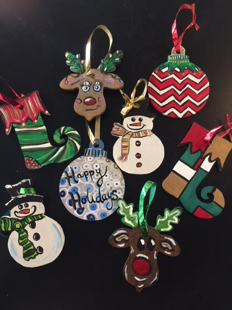 Wooden Cutout Ornaments