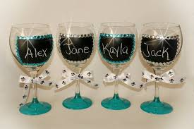 DIY Chalk Wine Glasses