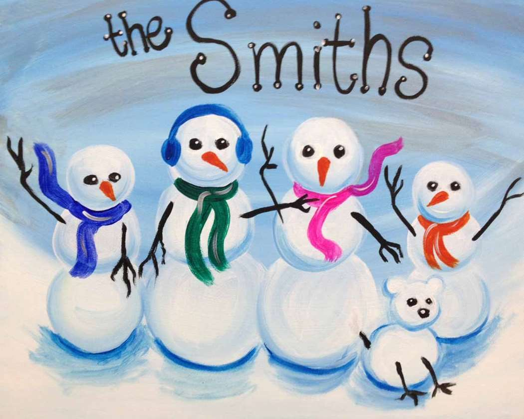 Personalized Snowman Family