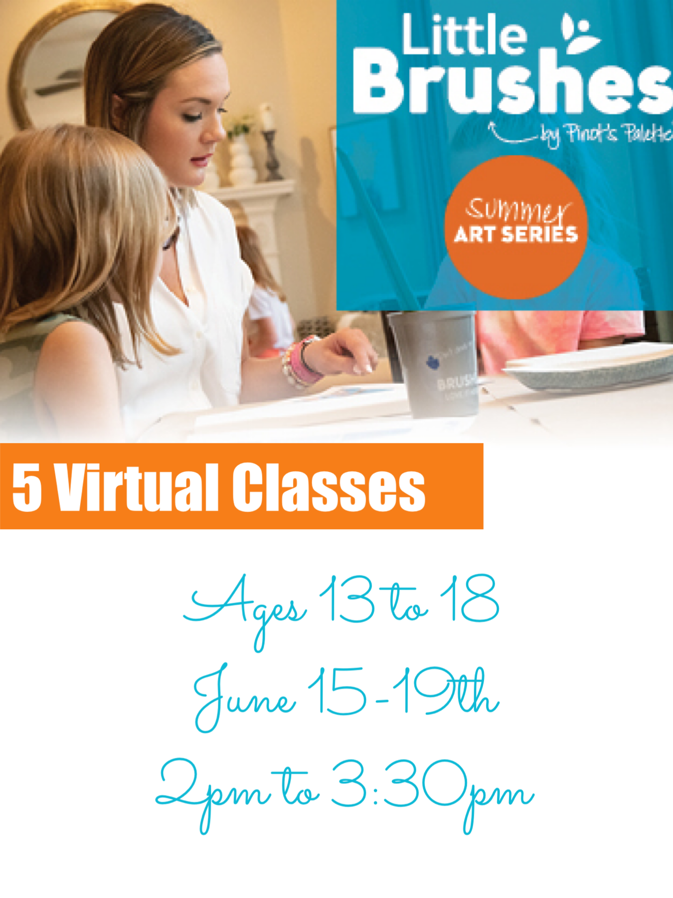 Summer Art Camp, 5 Days (Ages 13-18+)